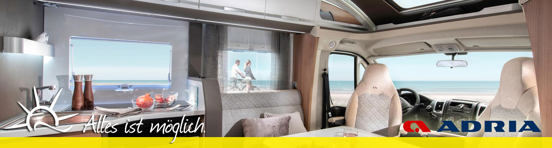 Neu im Sortiment sind Reisemobile der Marke Adria
